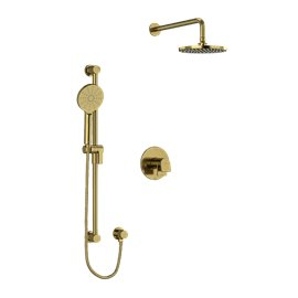 """Riobel Ode KIT323OD Type T/P (thermostatic/pressure balance) ½"""" coaxial 2-way system with hand shower and shower head"""
