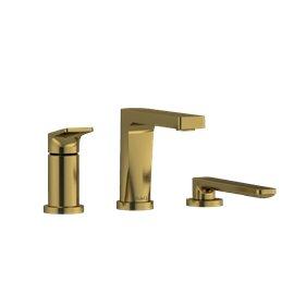 Riobel Ode OD16 3-piece Type P (pressure balance) deck-mount tub filler with hand shower