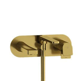 Riobel Ode OD21 Wall-mount Type T/P (thermo/pressure balance) coaxial tub filler with hand shower