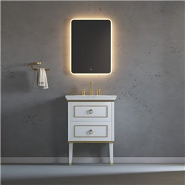 Virta 24 Inch Whitestar Floor Mount Single Sink Vanity