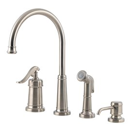 Pfister Ashfield 1-Handle Kitchen Faucet with Side Spray & Soap Dispenser