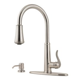 Pfister Ashfield 1-Handle Pull-Down Kitchen Faucet with Soap Dispenser