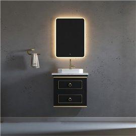 Virta 24 Inch Blackstar Wall Hung Single Vessel Sink Vanity