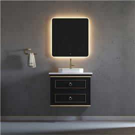 Virta 30 Inch Blackstar Wall Hung Single Vessel Sink Vanity