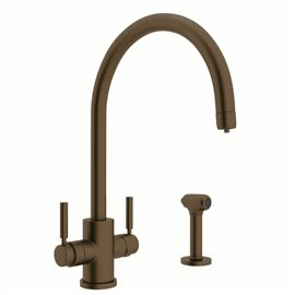 Perrin & Rowe Holborn™ Two Handle Filter Kitchen Faucet with Side Spray