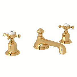 Perrin & Rowe Edwardian™ Widespread Lavatory Faucet With Low Spout