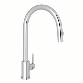 Perrin & Rowe Holborn™ Pull-Down Kitchen Faucet with C-Spout