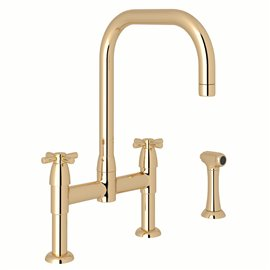 Perrin & Rowe Holborn™ Bridge Kitchen Faucet with U-Spout and Side Spray