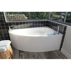 Neptune WIND Bathtub with Tiling Flange and Skirt