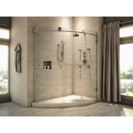 Buy neptune karma luna shower door sliding opening at for Radiateur salle de bain castorama