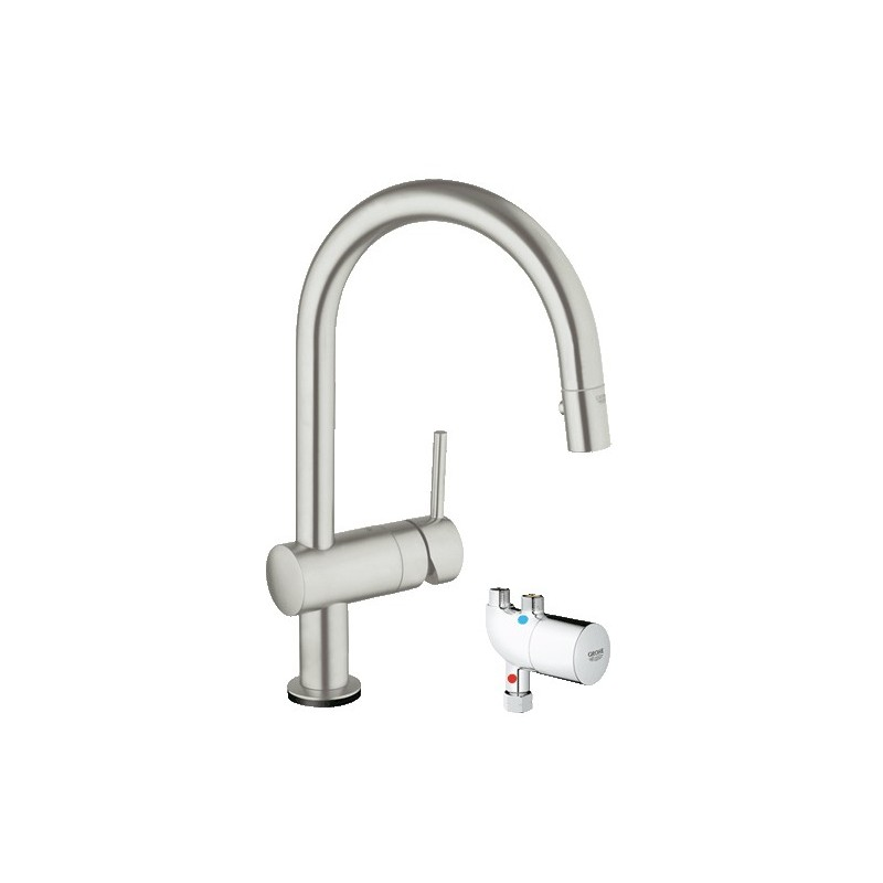 buy grohe 31392dc0 minta touch kitchen faucet wmicrotherm