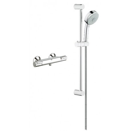 Buy GROHE 117164 Exposed THM single function shower kit at Discount ...