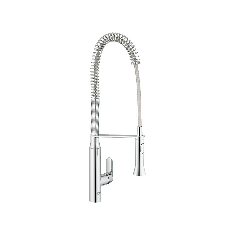 buy grohe 32951 k7 semi pro kitchen faucet at discount blanco 441332 culina semi pro kitchen faucet satin nickel