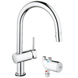 GROHE 31392 Minta Touch Kitchen Faucet wMicroTherm Unit