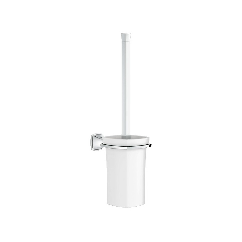 buy grohe 40632 grandera toilet brush set chrome at discount price at kolani kitchen bath in. Black Bedroom Furniture Sets. Home Design Ideas