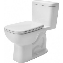 Duravit 0113010082 One-Piece toilet D-Code white siphon jet elong. side lever right
