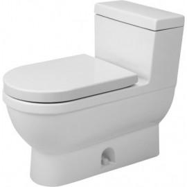 Duravit 2120010001 One-Piece toilet Starck 3 white w.mech. siphon jet elong. HETGB
