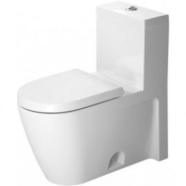 Duravit 2133010005 One-piece toilet Starck 2 white w.mech. siphon jet elong. HET