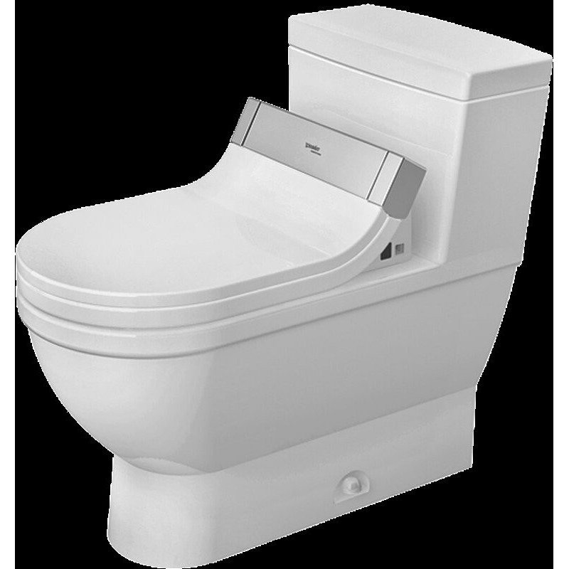 buy duravit 21205100011 one piece toilet starck 3 white w. Black Bedroom Furniture Sets. Home Design Ideas