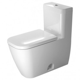 Duravit 21210100011 One-Piece toilet Happy D.2 white 1 28gpf-SF siphon jet elong. WGL