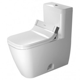 Duravit 21215100011 One-Piece toilet Happy D.2 white 1 28gpf-SF siphon jet elong. WGL