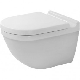Duravit 2225090092 Bowl only for Toilet wall mounted 54 cm Starck 3 white washdown Durafix US-vers.