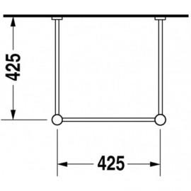 Duravit 0030651000 Metal console Vero chrome for washbasin 045450
