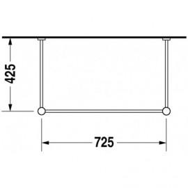 Duravit 0030661000 Metal console Vero chrome for washbasin 045480