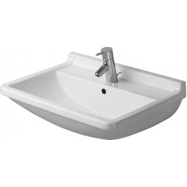 Duravit 0300650030 Washbasin 65 cm Starck 3 with overflow with 3 tap holes white