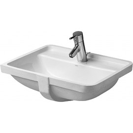 Duravit 0302490030 Vanity basin 49 cm Starck 3 white 3 tap holes undercounter model