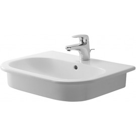 Duravit 0337540030 Vanity basin 54 cm D-Code white countertop model w.of w.tp 3 th