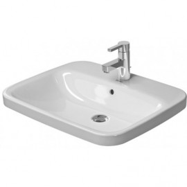 Duravit 0374620000 Vanity basin 61 5cm DuraStyle white countertop w.OF w.TP 1 TH