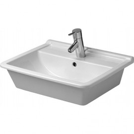 Duravit 03025600301 Vanity basin 56 cm Starck 3 white 3 tap holes countertop model WGL