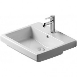 Duravit 03155500601 Vanity basin 55 cm Vero white ct basin with OF TP wo TH WGL