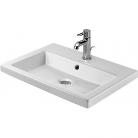 Duravit 03476000001 Vanity basin 60 cm 2nd floor white countertop w.OF w.TH 1 TH WGL