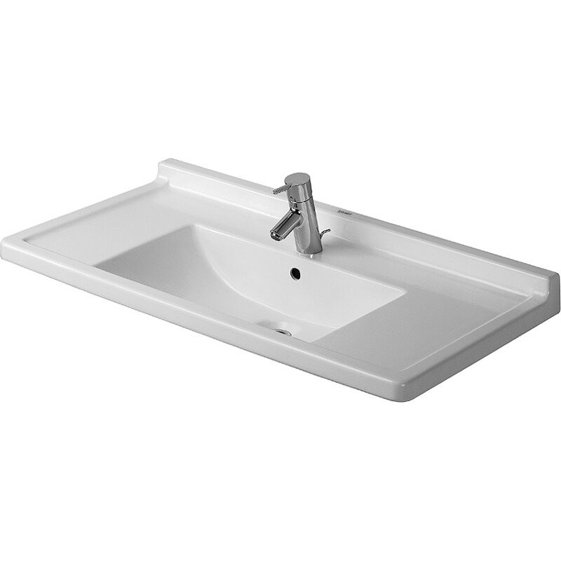 buy duravit 0304800000 furniture washbasin 85 cm starck 3 white at discount price at kolani. Black Bedroom Furniture Sets. Home Design Ideas