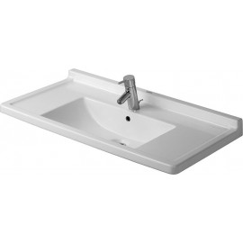 Duravit 0304800030 Furniture washbasin 85 cm Starck 3 with 3 tap holes white