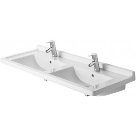 Duravit 0332130030 Double furniture washbasin 130 cm Starck 3 white with OF 1 TH