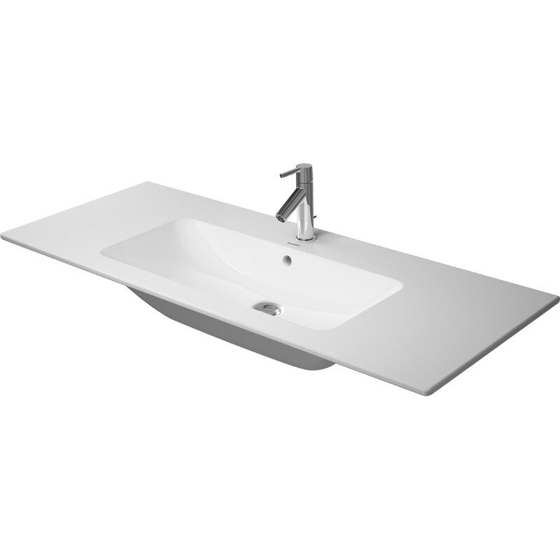 duravit furniture basin 1230mm me by starck white with of with tp 1 th - Duravit Sink