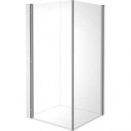Duravit 770009000100000 Shower screen OpenSpace B 985x985mm transp.a.mirror glass for tap le.