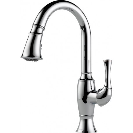 Buy Brizo 63003lf Single Handle Pull Down Kitchen Faucet At Discount