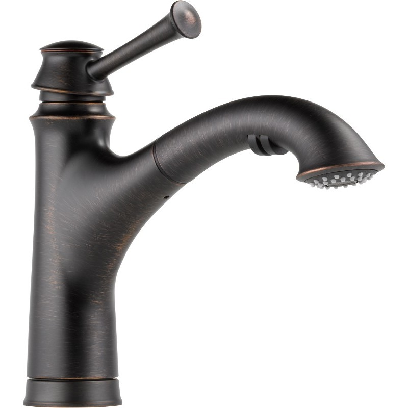 Buy brizo 63005lf single handle pull out kitchen faucet at for Baliza faucet