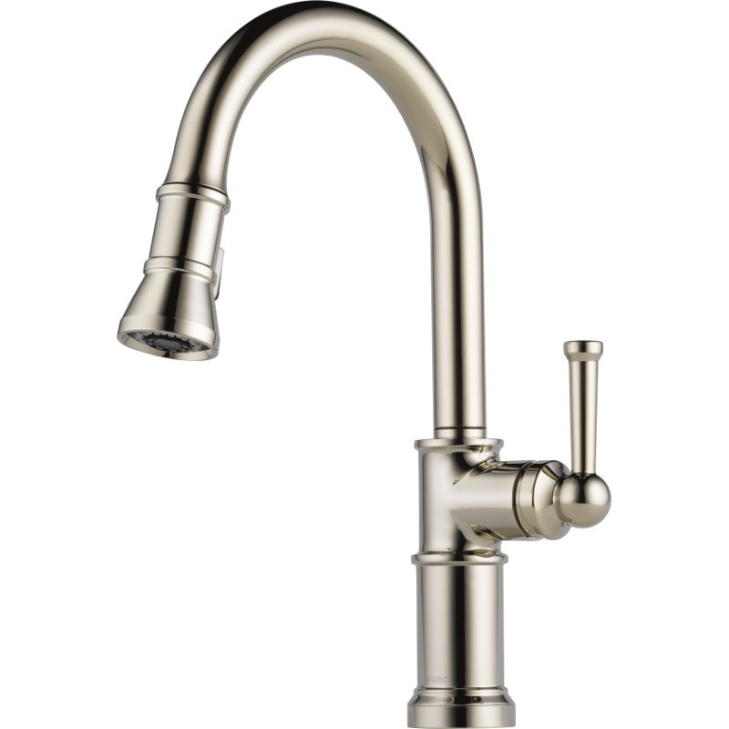 single handle pull down kitchen faucet buy brizo 63025lf single handle pull kitchen faucet 27459