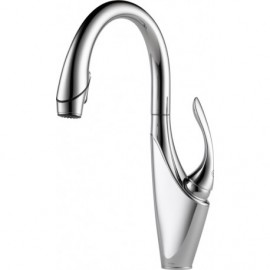 Brizo 63055LF Single Handle Pull-Down Kitchen Faucet