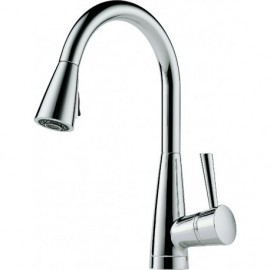 Brizo 63070LF Single Handle Pull-Down Kitchen Faucet with SoftTouch