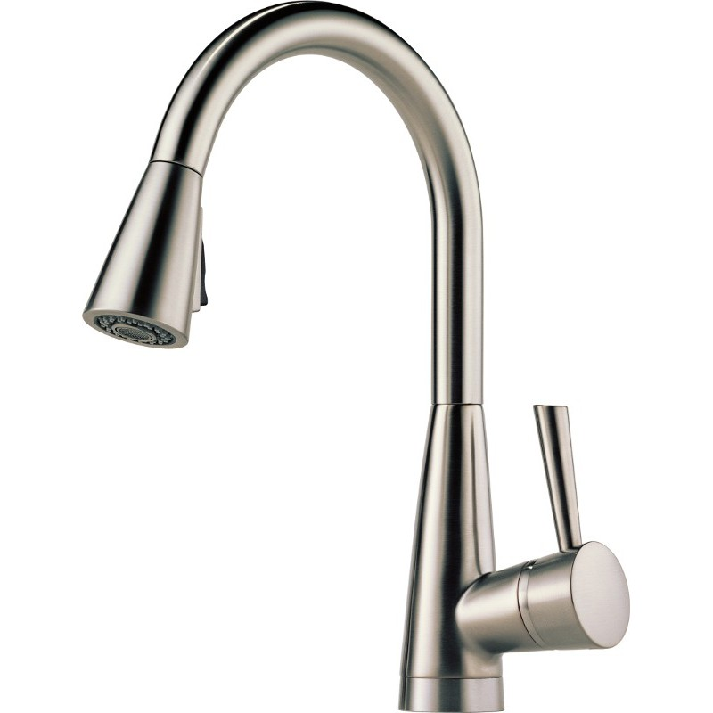 Brands > Brizo > Brizo 63070LF Single Handle Pull-Down Kitchen Faucet ...