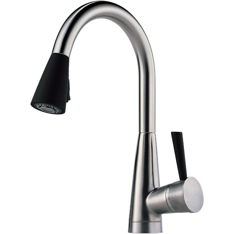 Buy Brizo 63070lf Single Handle Pull Down Kitchen Faucet With Softtouch At Discount Price At