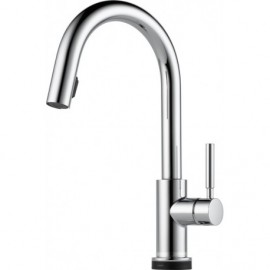 Brizo 64020LF Single Handle Single Hole Pull-Down Kitchen Faucet with SmartTouchR Technology