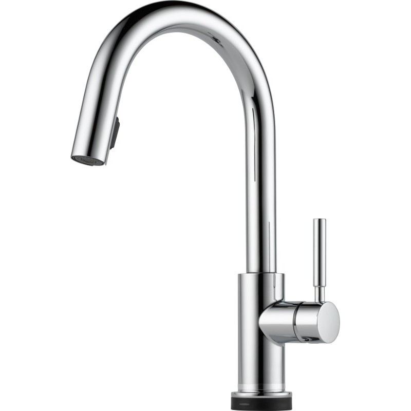 Buy Brizo 64020lf Single Handle Single Hole Pull Down Kitchen Faucet With Smarttouchr Technology