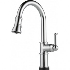 Brizo 64025LF Single Handle Pull-Down Kitchen Faucet with SmartTouchR Technology